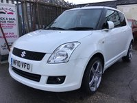 USED 2010 10 SUZUKI SWIFT 1.3 SZ3 3d 91 BHP Economical, low insurance, white, alloys, superb.