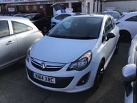 USED 2014 14 VAUXHALL CORSA 1.2 LIMITED EDITION 3d 83 BHP White, black alloys, air/con, low mileage, superb