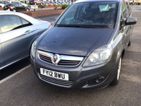 USED 2012 12 VAUXHALL ZAFIRA 1.6 DESIGN 5d 113 BHP 7 seater, 44000 miles, alloys, air/con, superb.