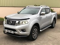 USED 2017 17 NISSAN NAVARA 2.3 DCI TEKNA 4X4 SHR DCB 1d 190 BHP BONNET GUARD, FRONT BAR, LEATHER, SAT NAV, REVERSE CAMERA, NEVER TOWED, WIND DEFLECTORS