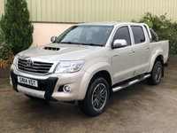 USED 2014 14 TOYOTA HI-LUX 3.0 INVINCIBLE 4X4 D-4D DCB 1d 169 BHP GREAT SPEC, LEATHER, ROLLER SHUTTER, 18' BLACK ALLOYS UPGRADE