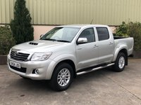 USED 2014 64 TOYOTA HI-LUX 3.0 INVINCIBLE 4X4 D-4D DCB 1d AUTO 169 BHP LEATHER, CANOPY, REVERSE CAMERA, AUTO, LINER