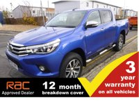 2017 TOYOTA HI-LUX Double Cab 2.4 INVINCIBLE AUTO 150ps Nav & Leather £22500.00