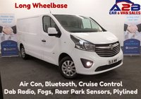 2016 VAUXHALL VIVARO 1.6 2900 CDTI SPORTIVE 115 BHP, LONG WHEEL BASE, One Owner, Bluetooth, Air Con, Cruise Control, DAB Radio, Ply-Lined, Rear Parking Sensors £10480.00