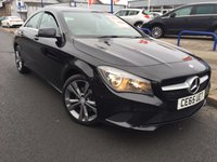 USED 2015 65 MERCEDES-BENZ CLA 2.1 CLA220 CDI SPORT 4d AUTO 170 BHP MERCEDES SERVICE HISTORY + LEATHER UPHOLSTERY + GUNMETAL ALLOY WHEELS