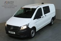USED 2015 65 MERCEDES-BENZ VITO 1.6 111 CDI 6d 114 BHP LWB COMBI CREW 6 SEATER AIR CON SPARE KEY LOW MILEAGE
