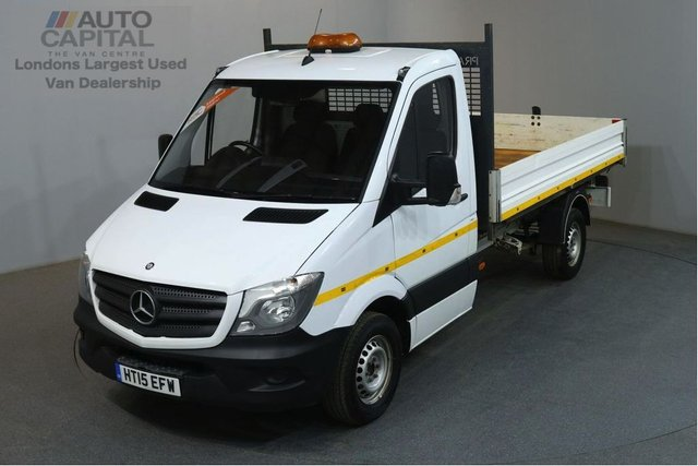 2015 15 MERCEDES-BENZ SPRINTER 2.1 313 CDI MWB 129 BHP 3 SEATER S/CAB TIPPER REAR BED LENGTH 11 FOOT 4 INCH
