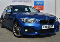 USED 2015 65 BMW 1 SERIES 1.5 116D M SPORT 5d Hatchback with DAB Digital Radio Rear Parking Sensors Bluetooth Mobile Connectivity and Low Road Tax and High 70mpg STUNNING IN BLUE WITH M SPORT SILVER ALLOYS