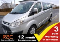 2017 FORD TOURNEO CUSTOM 310 L2 LWB Titanium 130ps 9-Seats Sat Nav Leather EURO 6 £18995.00
