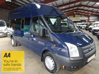 """USED 2013 13 FORD TRANSIT 2.2 430 H/R 17 SEAT 135 BHP LWB HI ROOF MINIBUS-ONE OWNER-FULL SERVICE HISTORY """"YOU'RE IN SAFE HANDS"""" - AA DEALER PROMISE"""