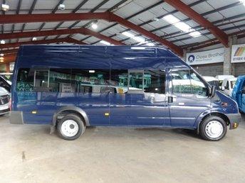 2013 FORD TRANSIT 2.2 430 H/R 17 SEAT135 BHP LWB HI ROOF MINIBUS-ONE OWNER-FULL SERVICE HISTORY  £8495.00