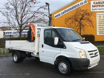 2013 FORD TRANSIT 2.2 T350M DROPSIDE+CRANE ALLOY BODY DRW TDCi 125  £SOLD