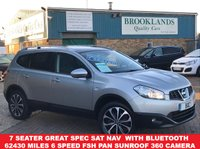 USED 2012 62 NISSAN QASHQAI+2 1.5 N-TEC PLUS 2 DCI Mineral Silver Met. 110 BHP 7 Seater  Great Spec inc SAT NAV  with Bluetooth 62430 miles 6 Speed FSH Panoramic Sunroof 360 Camera