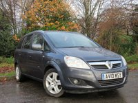 USED 2010 10 VAUXHALL ZAFIRA 1.8 ENERGY 5d 138 BHP VALUE FOR MONEY 7 SEAT FAMILY CAR
