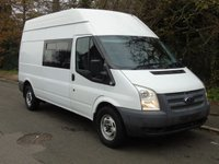 USED 2012 62 FORD TRANSIT 350 LWB T350 2.2TDCI 100BHP 9 SEATER CREW/ PANEL VAN (EX MOD) +9 SEATER+1 OWNER+ 74K+