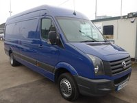 2016 VOLKSWAGEN CRAFTER 2.0 CR50 TDI LWB, 162 BHP [EURO 5], 1 COMPANY OWNER