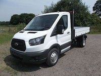 2018 FORD TRANSIT 350 MWB T350 130bhp Twin rear wheel Tipper, Euro 6, Bison VFS Tippers £21499.00