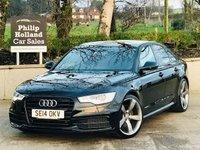 "USED 2014 14 AUDI A6 2.0 TDI ULTRA S LINE 4d 188 BHP BLACK EDITION STYLING 20"" Alloys, Black edition styling, Full leather, Sat Nav, Front / Rear parking sensors"