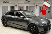 USED 2015 65 AUDI RS3 2.5 SPORTBACK QUATTRO NAV 5d 362 BHP full audi service history FULL BLACK LEATHER SPORT SEATS + FULL AUDI SERVICE HISTORY + MMI PLUS SATELLITE NAVIGATION + SUNROOF + MATRIX XENON HEADLIGHTS + BANG/OLUFSEN + HEATED FRONT SEATS + GHOST TRACKER SYSTEM + 19 INCH ALLOYS + PRIVICY GLASS + BLUETOOTH + COMFORT PACKAGE + TECHNOLOGY PACKAGE