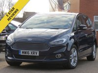USED 2016 16 FORD S-MAX 2.0 TITANIUM TDCI 5d 177 BHP PANORAMIC ROOF, NAVIGATION + FULL LEATHER INTERIOR
