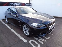 USED 2014 64 BMW 5 SERIES 2.0 520D M SPORT 4d 188 BHP £337 A MONTH FULL LEATHER HEATED SEATS SATELLITE NAVIGATION BLUETOOTH  DAB RADIO CRUISE AND CLIMATE CONTROL FRONT AND REAR SENSORS