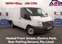 2013 FORD TRANSIT 2.2 99 BHP T300 FWD, Low Mileage 48144, One Owner From New, Air Con,6 Speed Gearbox,Security Locks, Ply Lined, 3 Seats £7480.00