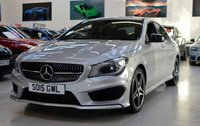 USED 2015 15 MERCEDES-BENZ CLA 1.6 CLA180 AMG SPORT 4d 122 BHP COMAND NAVIGATION NIGHT PACK COUPE