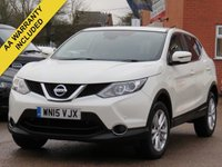 USED 2015 15 NISSAN QASHQAI 1.5 DCI ACENTA SMART VISION 5d 108 BHP FULL MAIN DEALER SERVICE HISTORY + DELIVERY AVAILABLE