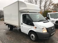 2014 FORD TRANSIT T350 125PS LWB LUTON WITH TAILIFT £12295.00
