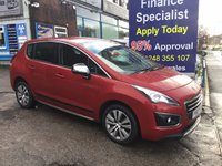 2015 PEUGEOT 3008 1.6 BLUE HDI S/S ACTIVE 5d 120 BHP, only 38000 miles, 1 Owner £9995.00