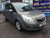 2011 VAUXHALL MERIVA 1.7 EXCLUSIV CDTI 5d 128 BHP, only 49000 miles, 2 Owners £4495.00