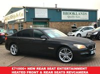 USED 2012 BMW 7 SERIES 3.0 730D M SPORT 4d 242 BHP Sophisto Grey Xirall With Dakota Black Leather  £71000 when new Rear Seat Entertainment Heated Front & Rear Seats RevCamera