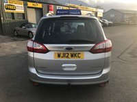 USED 2012 12 FORD GRAND C-MAX 1.6 TITANIUM 5 DOOR 148 BHP IN SILVER WITH 76000 MILES AND 7 SEATS,SAT NAV,ELECTRIC TAILGATE AND A FULL SERVICE HISTORY. APPROVED CARS ARE PLEASED TO OFFER THIS FORD GRAND C-MAX 1.6 TITANIUM 5 DOOR 148 BHP IN SILVER WITH 76000 MILES WITH A GOOD SPEC INCLUDING DUEL CLIMATE CONTROL,BLUETOOTH,ELECTRIC TAILGATE,HEATED WINDSCREEN,SAT NAV,CRUISE CONTROL AND MUCH MORE WITH A FULL SERVICE HISTORY SERVICED AT 12K,26K,39K,48K,57K AND 69K A GREAT 7 SEATER FAMILY CAR.