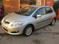 USED 2007 57 TOYOTA AURIS 1.6 TR VVT-I 5d AUTO 122 BHP AUTOMATIC LOW MILEAGE.FINANCE ME TODAY-UK DELIVERY POSSIBLE