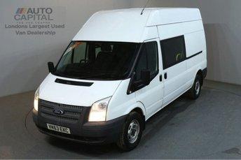 2013 FORD TRANSIT 2.2 350 124 BHP LWB H/ROOF 9 SEATER COMBI CREW VAN £6990.00