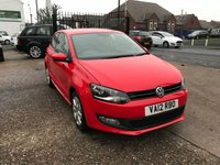 USED 2012 12 VOLKSWAGEN POLO 1.2 MATCH 3d 59 BHP 1 OWNER-FULL MAIN DEALER HISTORY 6 STAMPS-BLUETOOTH-AIRCON-ALLOYS