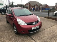 2011 NISSAN NOTE 1.4 N-TEC 5d 87 BHP £SOLD
