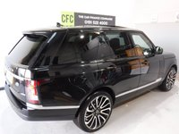 USED 2015 65 LAND ROVER RANGE ROVER 4.4 SDV8 VOGUE 5d AUTO 339 BHP A REAL EXAMPLE OF A STUNNING AND VERY WELL LOOKED AFTER 4X4 VEHICLE , FINISHED IN GLEAMING BLACK WITH BLACK  HEATED LEATHER WITH ELEC MEMORIES  SEATS  PIANO BLACK INSERTS, FULL GLASS  ROOF FRONT SPOT LIGHTS,  20 INCH UPGRADED ALLOYS, CRUSE CONTROL, BIG SCREEN SAT NAV, LANE ASSIST, PADDLE SHIFT AUTO GEAR BOX, VOICE COMMAND, , AUX USB LEAD, AUTO HEAD LAMPS, ELEC STEERING COLUMN , 8 CD CHANGER, BLUE TOOTH PHONE PREP