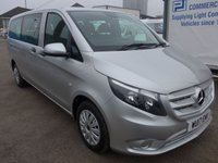 USED 2017 17 MERCEDES-BENZ VITO 114 BLUETEC TOURER PRO 9 SEATER, 136 BHP, AIR CONDITIONING