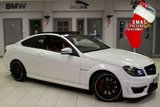USED 2013 62 MERCEDES-BENZ C CLASS 6.2 C63 AMG 2d 457 BHP full mercedes benz service history FULL RED LEATHER SEATS + FULL MERCEDES BENZ SERVICE HISTORY + COMAND SATELLITE NAVIGATION + PANORAMIC SUNROOF + 19 INCH ALLOYS + HEATED FRONT SEATS + XENON HEADLIGHTS + BLUETOOTH + CRUISE CONTROL + DAB RADIO