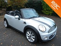 USED 2013 63 MINI CONVERTIBLE 1.6 COOPER 2d 122 BHP Full Leather Seats! Bluetooth, Cruise Control, Alloy Wheels, DAB Radio