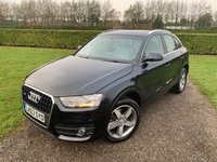 USED 2013 63 AUDI Q3 2.0 TDI QUATTRO SE 5d AUTO 175 BHP Panoramic Roof, Heated Leather Full Audi And Specialist Service History, Recently Serviced, Very Very Pretty Car, Full Glass Panoramic Roof With Electric Sunblind, Full Grey Leather Upholstery, Heated And Electrically Adjustable Sport Seats, Bluetooth Handsfree And Media Streaming, Truly Stunning Unmarked Example, Front And Rear Parking Sensors With Optical Countdown, X2 Keys, 18 In Polished Face Alloys, X4 Matching Goodyear Eagle Tyres, Only One Owner, MOT 09/19, X2 Keys, Full Set Of Luxury Carpet Mats, Also Rubber Mats And