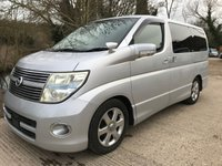 2007 NISSAN ELGRAND 3.5 HIGHWAY STAR, EXECUTIVE LUX £7995.00