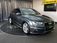 USED 2013 63 AUDI A3 2.0 TDI S LINE 3d 148 BHP £0 DEPOSIT FINANCE AVAILABLE, AIR CONDITIONING, AUDI DRIVE SELECT, BLUETOOTH CONNECTIVITY, CLIMATE CONTROL, CRUISE CONTROL, DAB RADIO, DAYTIME RUNNING LIGHTS, ELECTRONIC PARKING BRAKE, FULL S LINE LEATHER UPHOLSTERY, STEERING WHEEL CONTROLS, TRIP COMPUTER, VOICE ACTIVATED CONTROLS