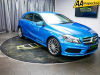 USED 2014 14 MERCEDES-BENZ A CLASS 2.1 A200 CDI AMG SPORT 5d AUTO 136 BHP £0 DEPOSIT FINANCE AVAILABLE, AIR CONDITIONING, BLUETOOTH CONNECTIVITY, CLIMATE CONTROL, DAYTIME RUNNING LIGHTS, ELECTRONIC PARKING BRAKE, GEARSHIFT PADDLES, HILL START ASSIST,  STEERING WHEEL CONTROLS, TRIP COMPUTER, USB CONNECTION