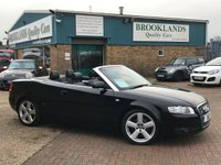 2008 AUDI A4 2.0 TDI S LINE Convertible Brilliant Black with Full Leather 141 BHP £SOLD