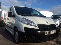 USED 2015 65 PEUGEOT EXPERT LWB 2.0 HDI 1200 L2H1 128 BHP 1 OWNER FSH AIR CON RACKING FREE 6 MONTH AA WARRANTY INCLUDING RECOVERY AND ASSIST NEW MOT AIR CONDITIONING RACKING SPARE KEY ELECTRIC WINDOWS AND MIRRORS CRUISE CONTROL TWIN SIDE LOADING DOORS REAR PARKING SENSORS 6 SPEED