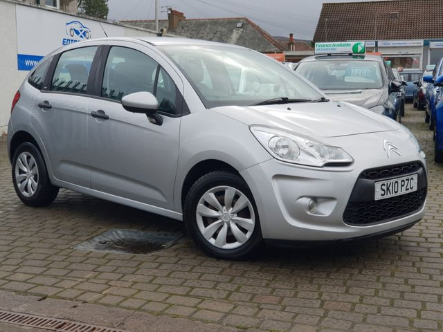 USED 2010 10 CITROEN C3 1.1 VT 5d 60 BHP AS ALWAYS ALL CARS FROM EDINBURGH CAR STORE COME WITH 1 YEARS FULL MOT ,1 FULL RAC INSPECTION SERVICE AND 6 MONTH RAC WARRANTY INCLUDING  12 MONTHS RAC BREAKDOWN RECOVERY FREE OF CHARGE!      PLEASE CALL IF YOU DONT SEE WHAT YOUR LOOKING FOR AND WE WILL CHECK OUR OTHER BRANCHES.  WE HAVE  OVER 100 CARS IN DEALER STOCK