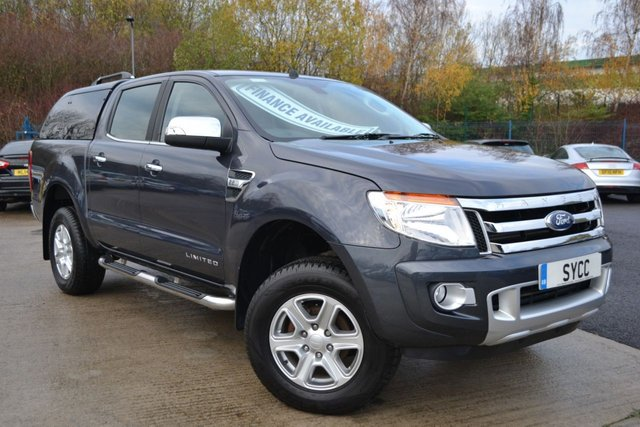 USED 2015 15 FORD RANGER 2.2 LIMITED 4X4 DCB TDCI 5d 148 BHP ~ LEATHER ~ SAT NAV ~ REVERSE CAM SAT NAV ~ HEATED ELECTRIC LEATHER ~ REVERSE CAMERA ~ SAT NAV ~ CANOPY