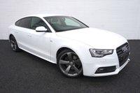 2013 AUDI A5 2.0 SPORTBACK TDI S LINE BLACK EDITION S/S 5d AUTO 175 BHP £13995.00